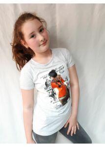 lány rövid ujjú póló