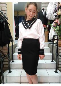 ANNBOR lányka fekete szoknya iskolai egyenruha egyenes vonalú