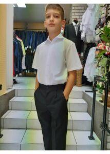 rövid ujjú fehér fiú ing