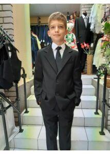 ANNBOR sötétkék karcsúsított fiú öltöny slim fazon