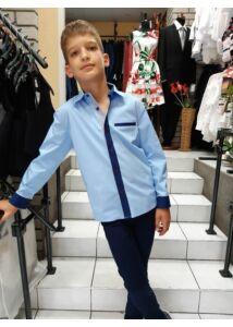 világos kék fiú ing
