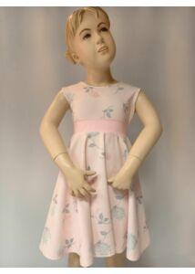Rózsaszínű virág mintás nyári kislány ruha
