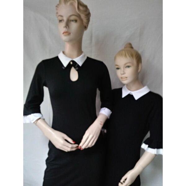 Anya - Lánya fehér galléros fekete ruha
