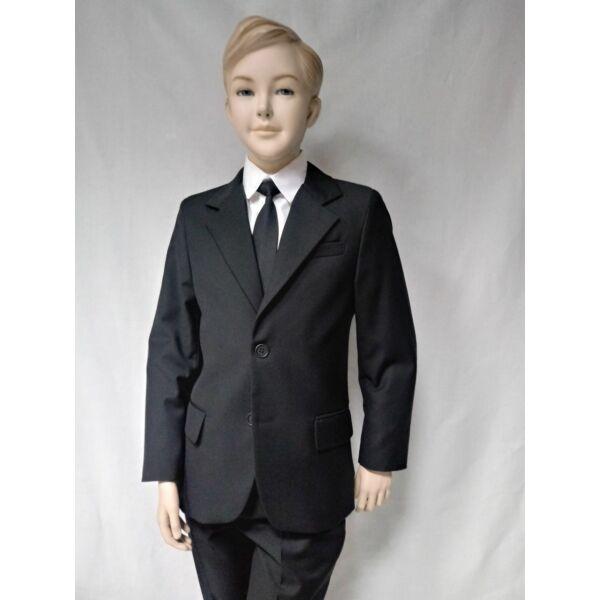 Karcsúsított fekete fiú öltöny ANNBOR Slim