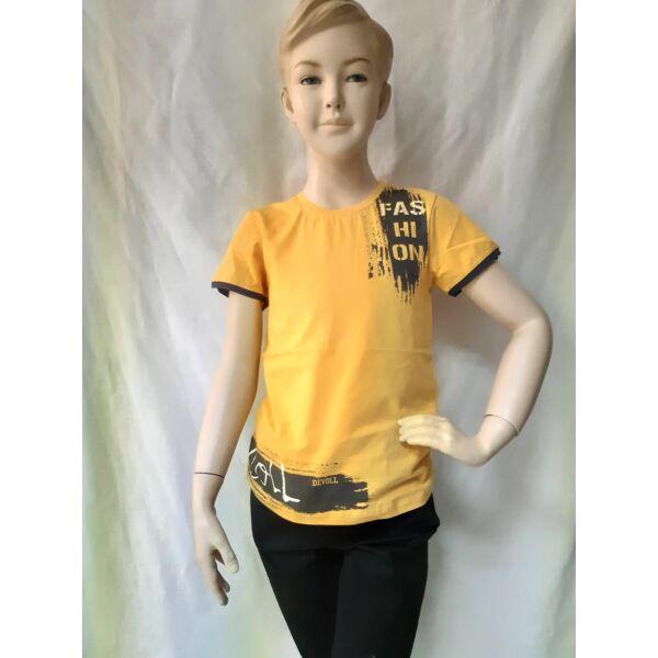 Sárga rövid ujjú póló