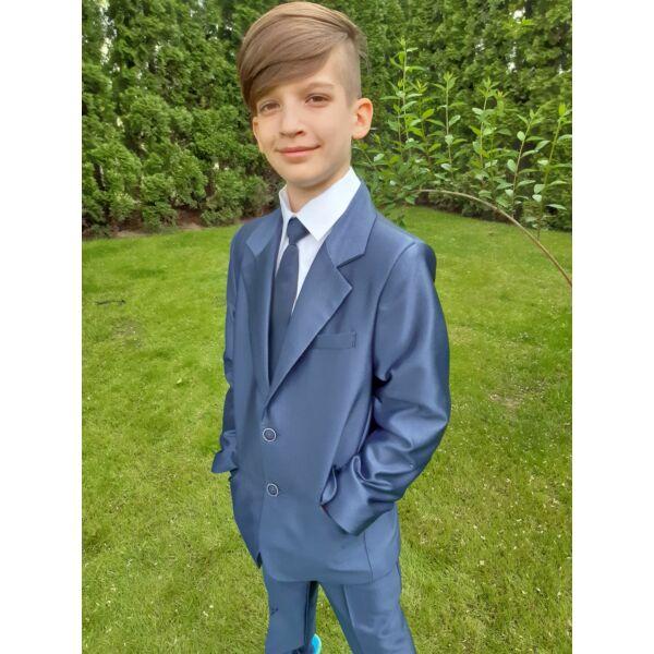 ANNBOR magas fényű kék fiú öltöny