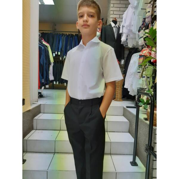 Fiú fekete B szövet nadrág