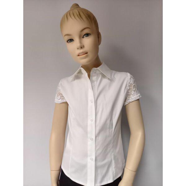 Fehér lányka ing rövid ujjú
