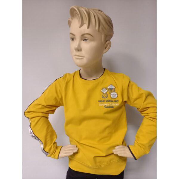 fiú sárga hosszú ujjú póló