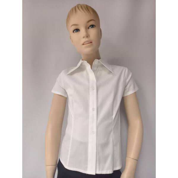 fehér lány rövid ujjú ing