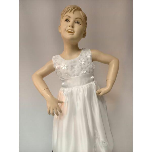 fehér keresztelő vagy gyűrű vivő kislány ruha